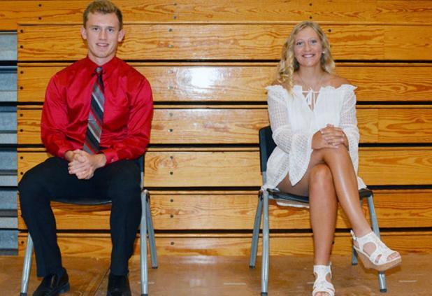 Hailey Sandfort and Elizabeth Hodges Co- Valedictorians Class of 2020 at Johnson-Brock