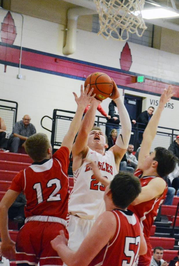 Johnson-Brock Boys Get the Better of Mead on Way to Class D-2 State Basketball Tourney