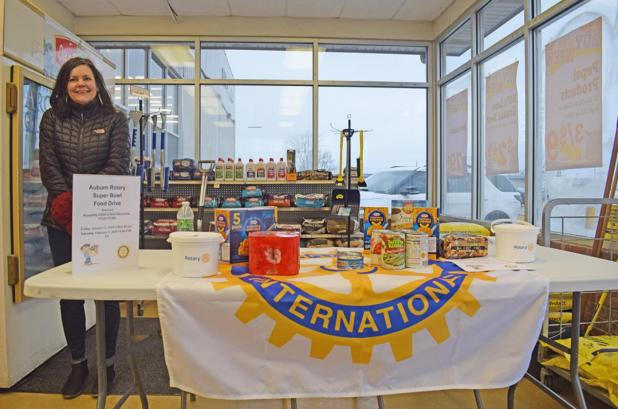 Nonperishable Food and Cash Collected for Local Food Pantries By Auburn Rotary Club Members
