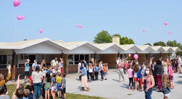 Balloon Releases Honoring Emily Zech