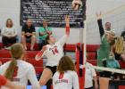 Auburn High Volleyball Drops Preseason Exhibition Match to Powerful Falls City Sacred Heart Squad
